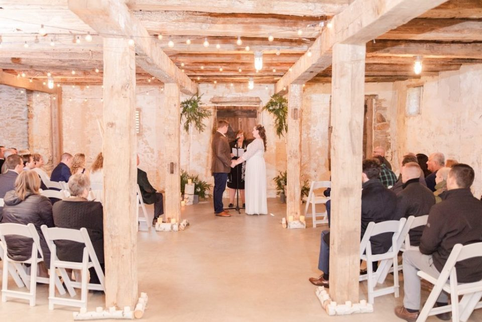 wedding ceremony at Duportail House with Renee Nicolo Photography