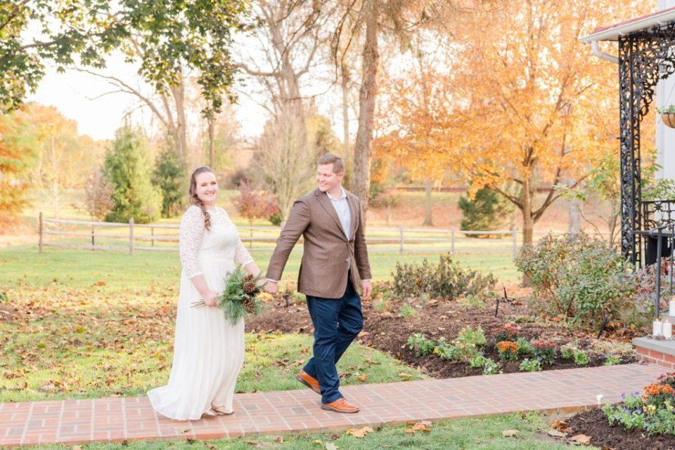 romantic fall wedding at Duportail House