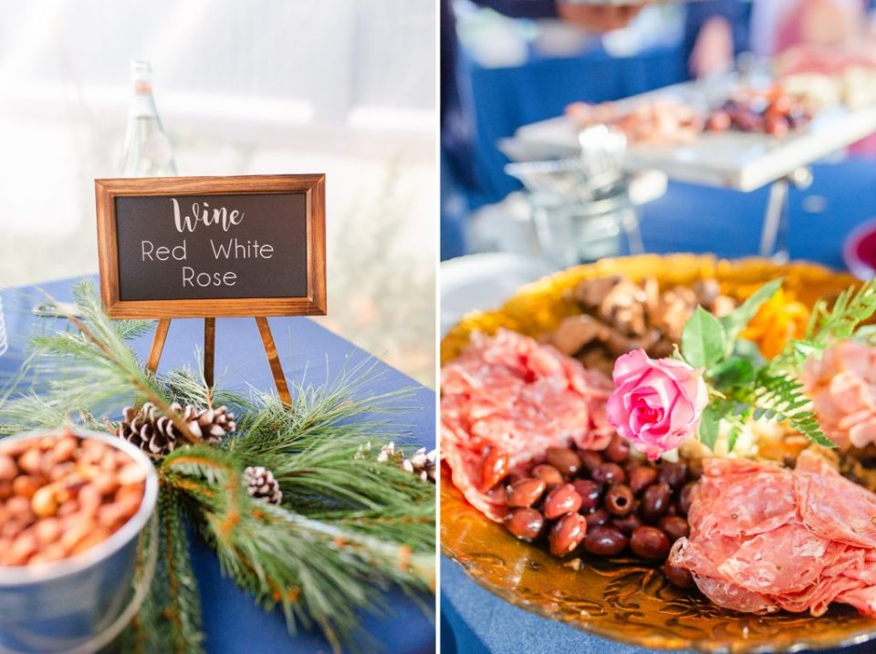 wedding reception details photographed by Renee Nicolo Photography