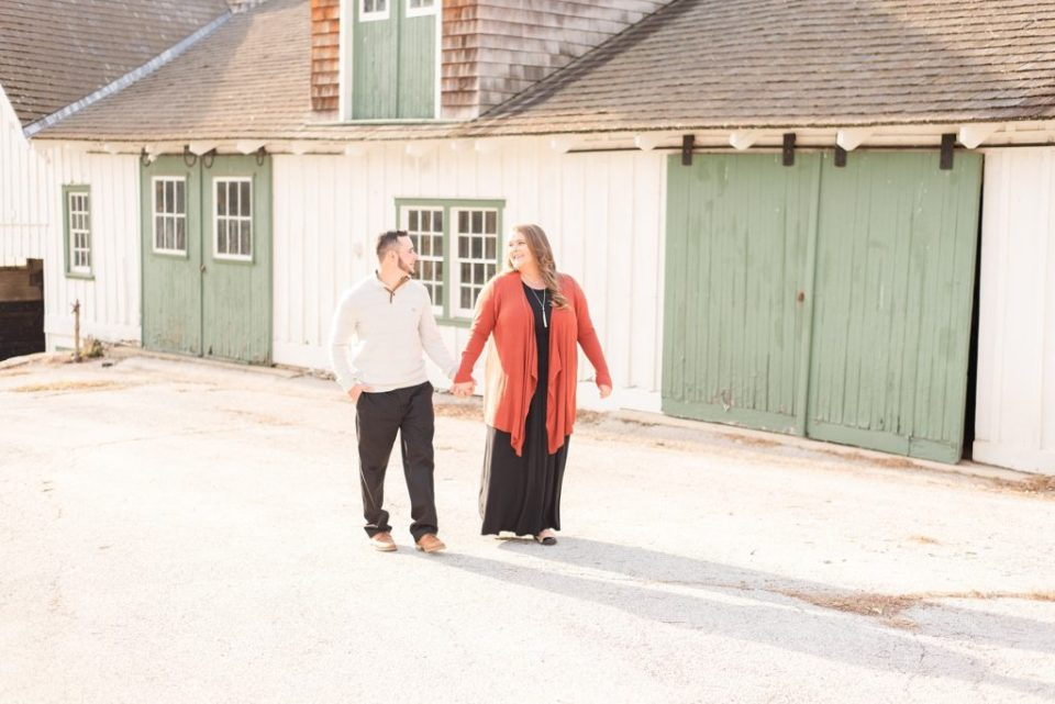 Valley Forge National park engagement session photographed by Renee Nicolo Photography