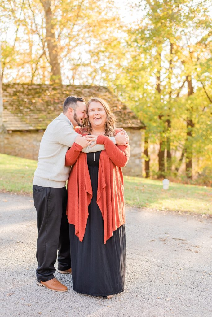 engagement session with Renee Nicolo Photography in Valley Forge National Park