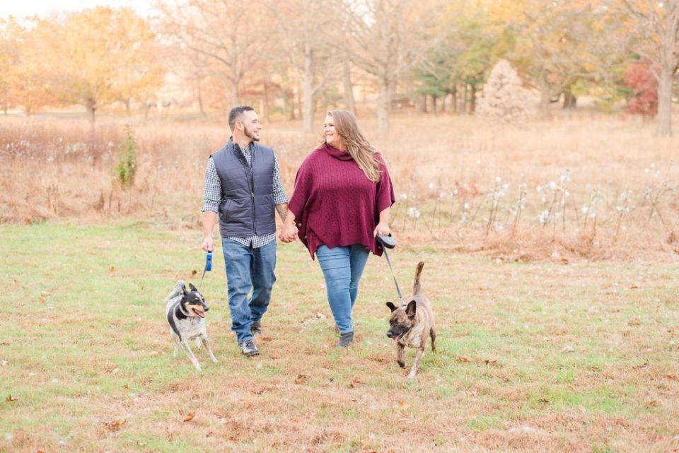 Renee Nicolo Photography photographs engagement session with dog