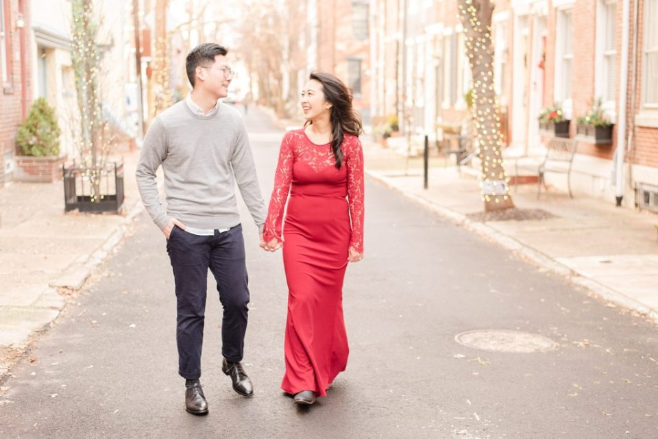 winter engagement session in Philly PA with Renee Nicolo Photography