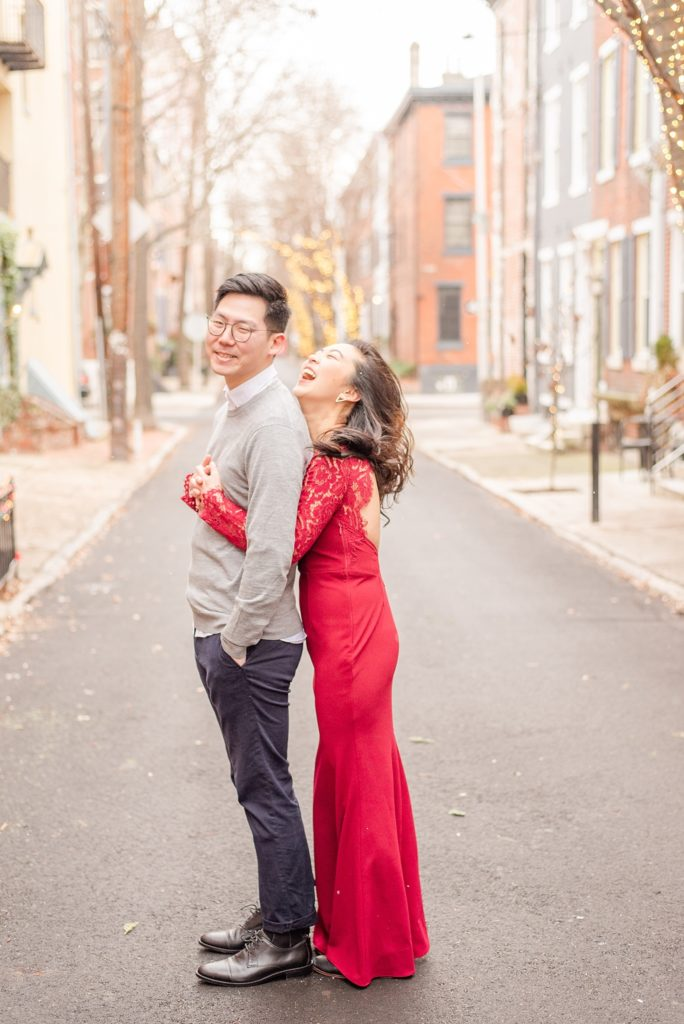 engagement portraits in the snow by Renee Nicolo Photography