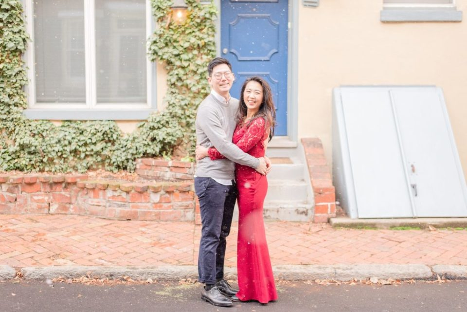 engagement session in the snow with Renee Nicolo Photography