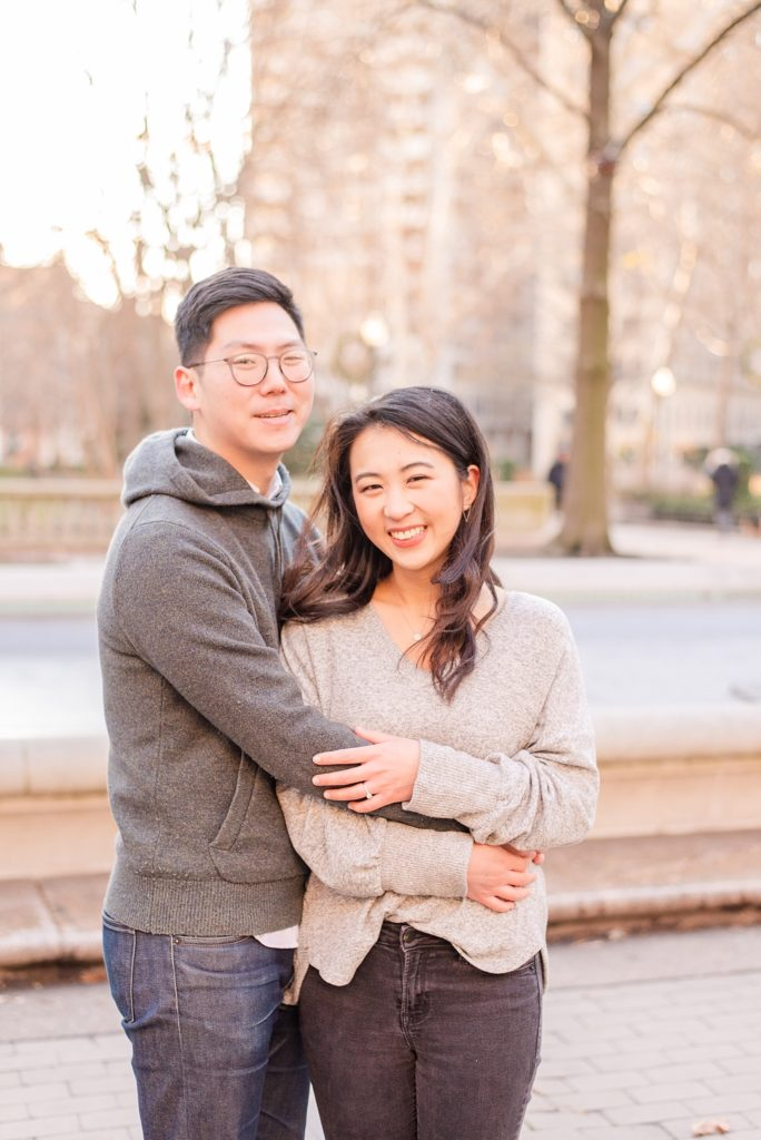 casual city engagement photos by Renee Nicolo Photography