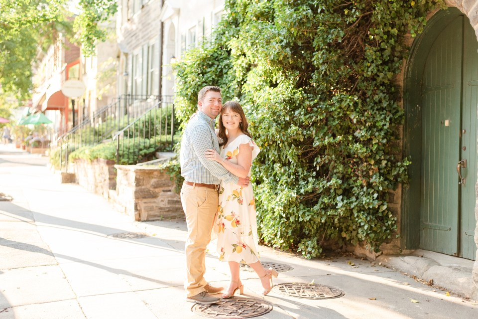 Renee Nicolo Photography photographs PA engagement session in Chestnut Hill