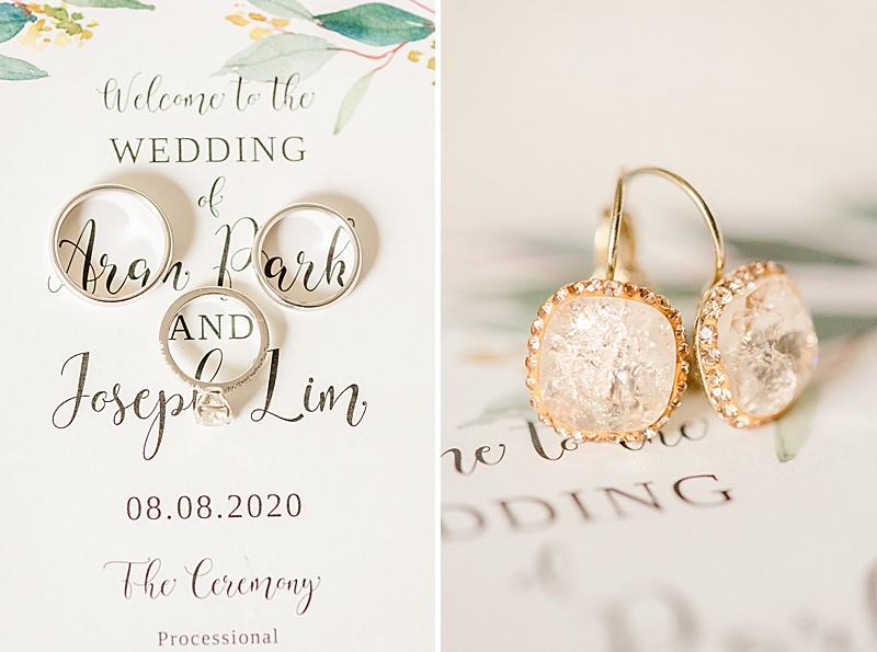 wedding day details for NJ backyard wedding