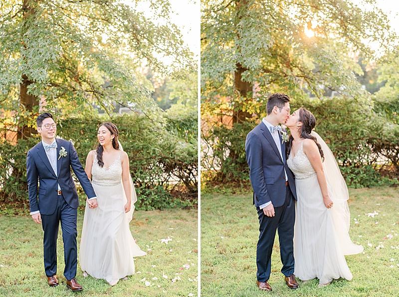 New Milford NJ wedding portraits at sunset