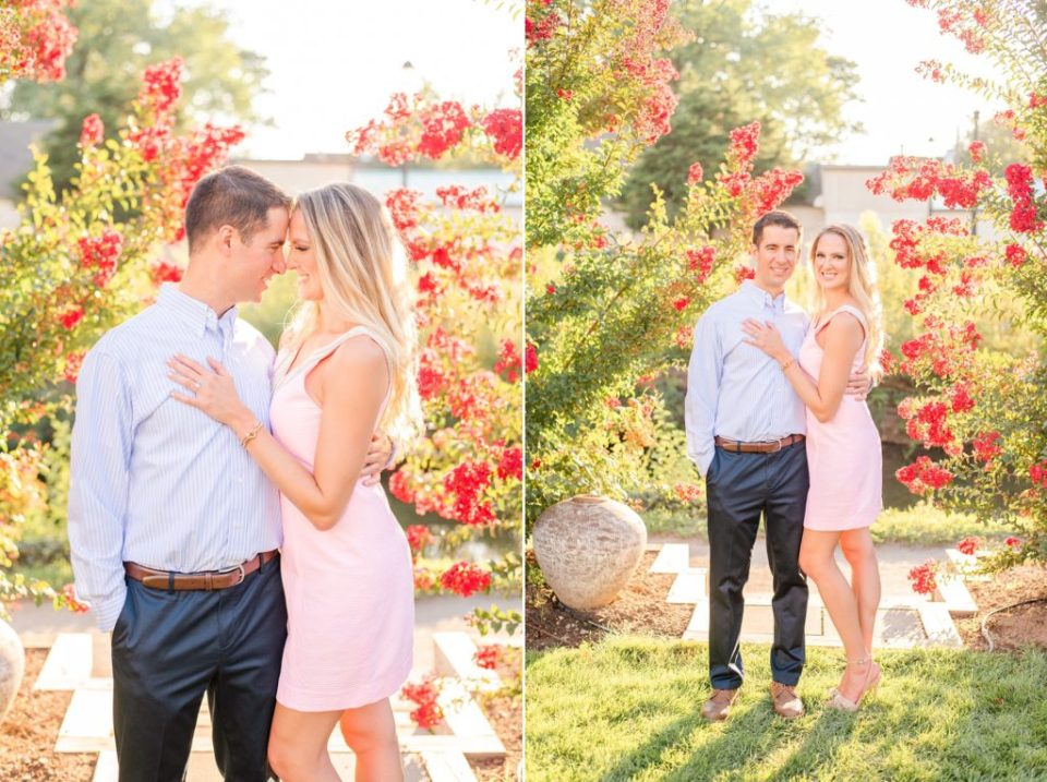 New Hope Engagement Session in gardens