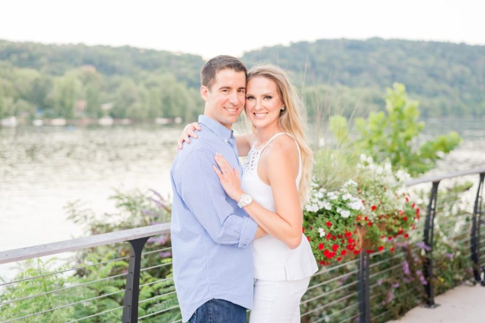 Pennsylvania engagement session in New Hope with river in the background