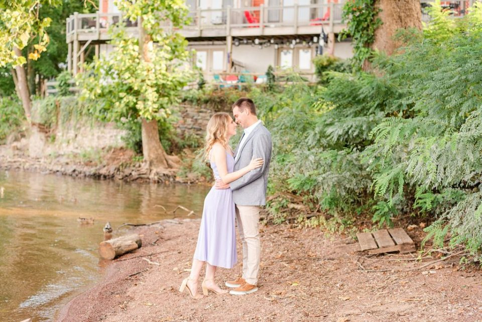 waterside engagement portraits in the summer with Renee Nicolo Photography