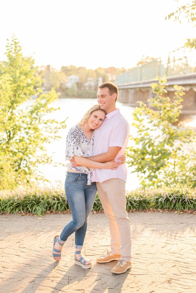 Pennsylvania engagement session at sunset