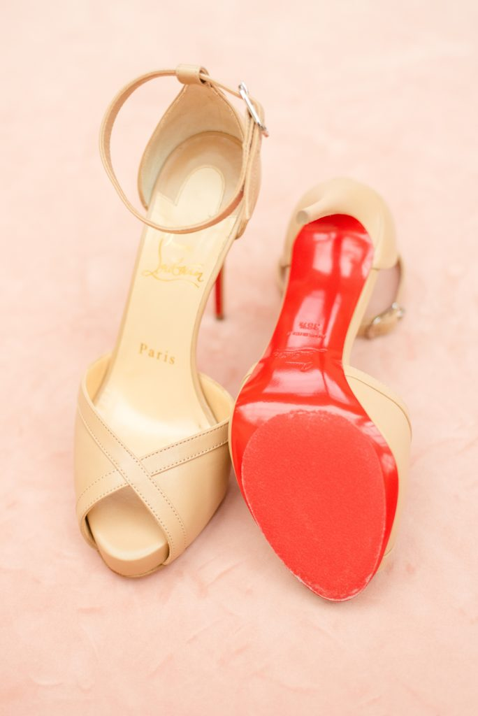 red bottomed shoes for the bride