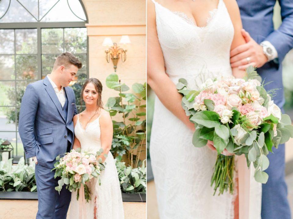 newlyweds pose after PA wedding ceremony