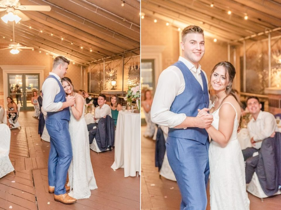 bride and groom dance at the Desmond Hotel