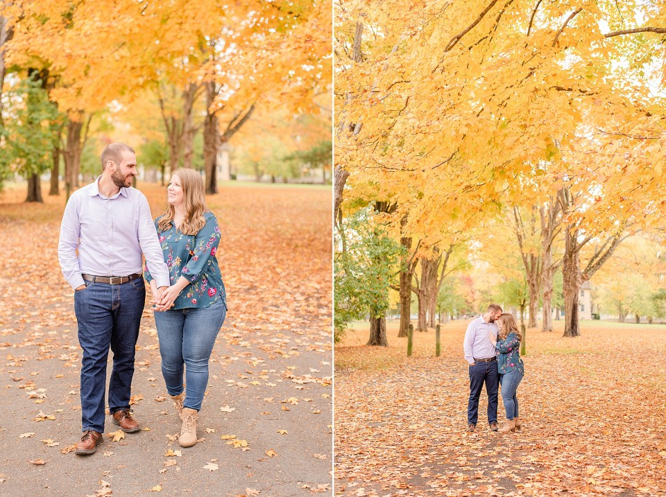 Washington Crossing Historic Park engagement session with Renee Nicolo Photography