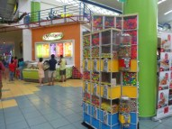 Gum balls - and healthy fruit smoothies at Albrook Mall