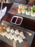 The $5.00 sushi at Raw Fusion during happy hour:)