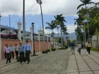 A walkway near the university in San José