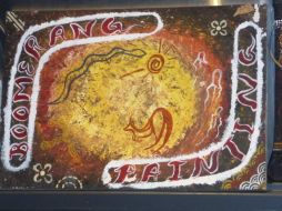 The aboriginal art tells stories