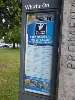 Fitness classes and equipment on the Cairns Esplanade
