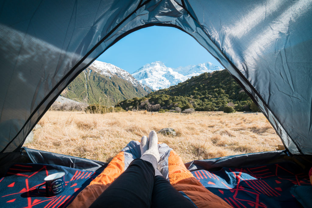 A GUIDE TO CAMPING ON NEW ZEALAND'S SOUTH ISLAND - WHITE HORSE HILL CAMPGROUND