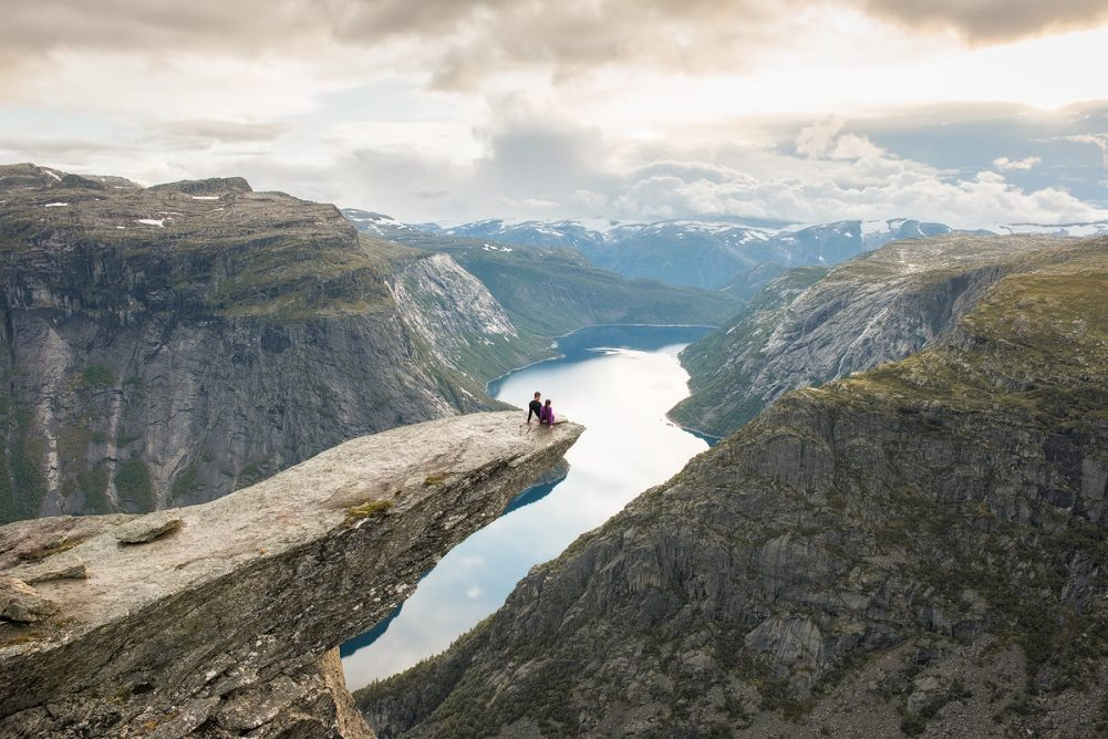 Trolltunga Norway Couple - Renee Roaming
