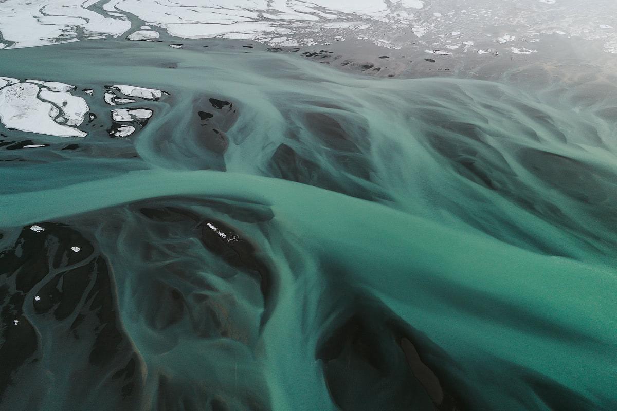 Iceland River Drone - Renee Roaming