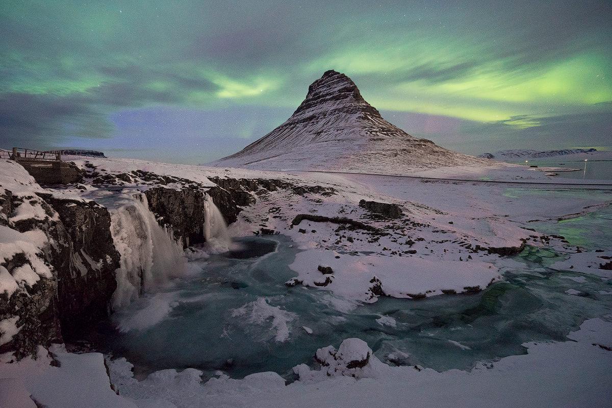 Iceland, Kirkjufell Northern Lights - Renee Roaming