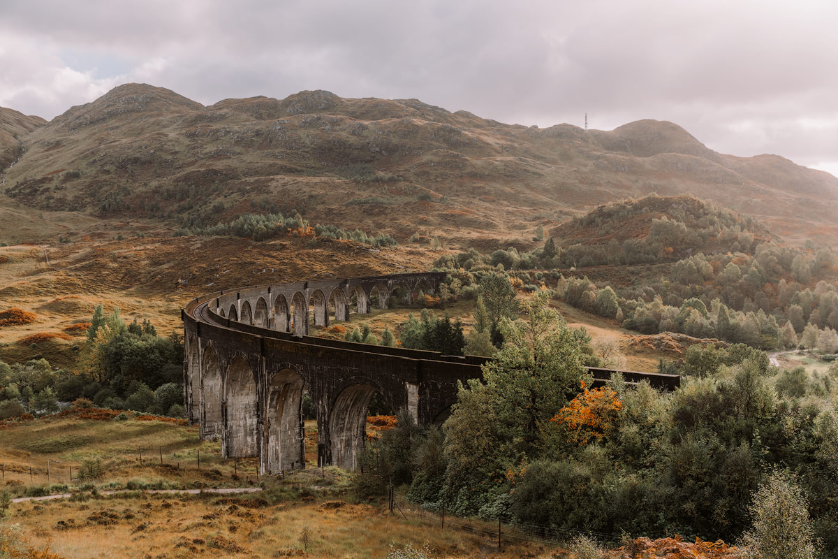 Epic Isle of Skye Photography Location Renee Roaming Glenfinnan Viaduct Harry Potter Train