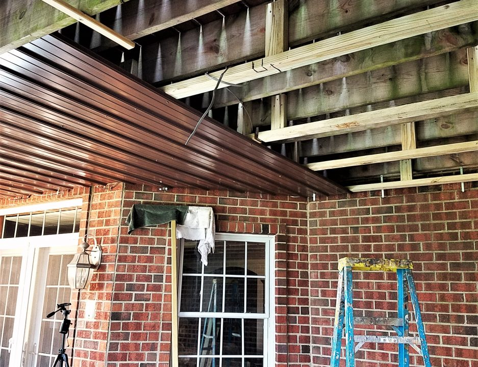 diy under deck roof and drainage system