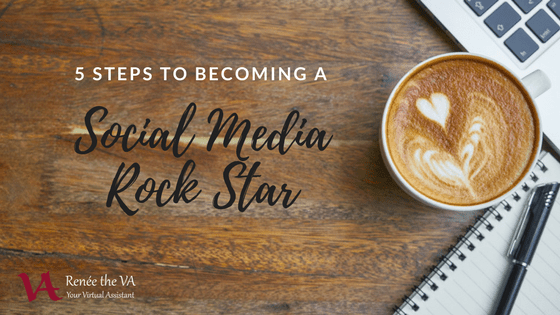 5 Steps to Becoming a Social Media Rock Star/coffee and laptop/reneetheva.com