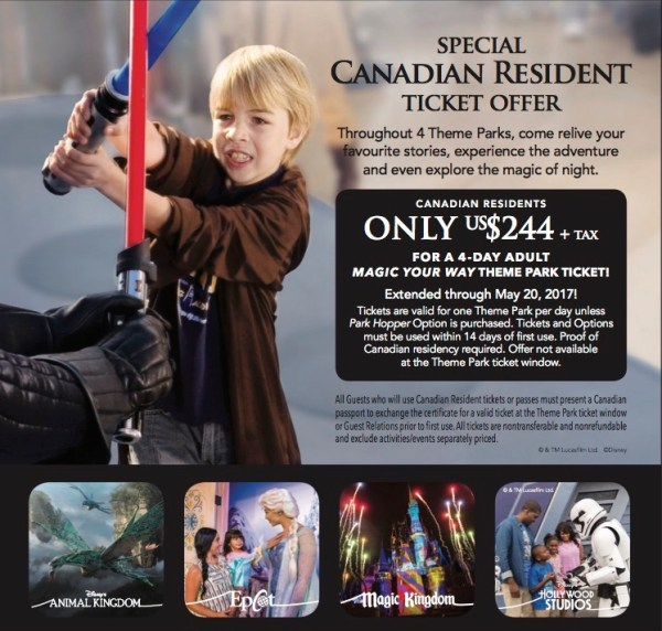 Walt Disney World: 10 days for less than 4 with the Canadian Resident's Offer