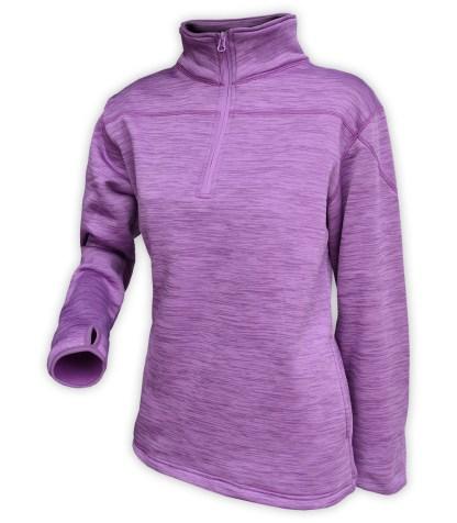 purple sweater pullover, quarter zip, women, wholesale, embroidery