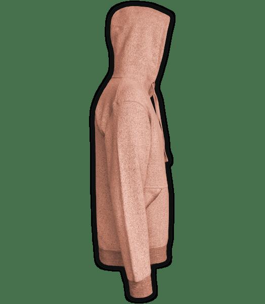 Renegade Club Unisex Pullover, adult fleece pullover hoodie, womens fleece, mens fleece, nantucket soft fleece, salmon, side
