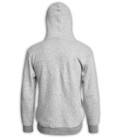 Renegade Club Unisex Pullover, adult fleece pullover hoodie, womens fleece, mens fleece, nantucket soft fleece, salt and pepper, white, gray, back
