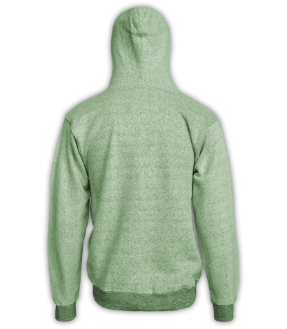 Renegade Club Full Zip Jacket nantucket fleece, womens fleece, mens fleece, unisex, soft jacket, lime, green, back