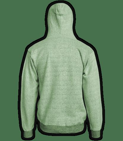 Renegade Club Full Zip Jacket nantucket fleece, womens fleece, mens fleece, unisex, soft jacket, lime, green, back