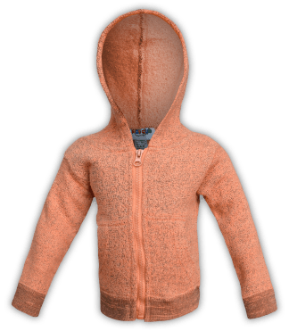 renegade-club-kids-jacket-nantucket-fleece-infant-toddler-fleece jacket, full zip, orange, pink, salmon