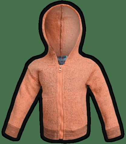 renegade-club-kids-jacket-nantucket-fleece-infant-toddler-fleece jacket, full zip, orange, pink, salmon