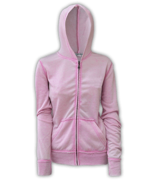 burnout fleece, renegade hoodie, resort stop full zipper, pink