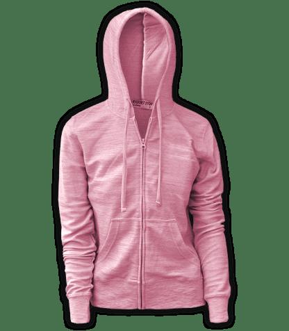 renegade club, resort stop full zip, melange fleece, pink,