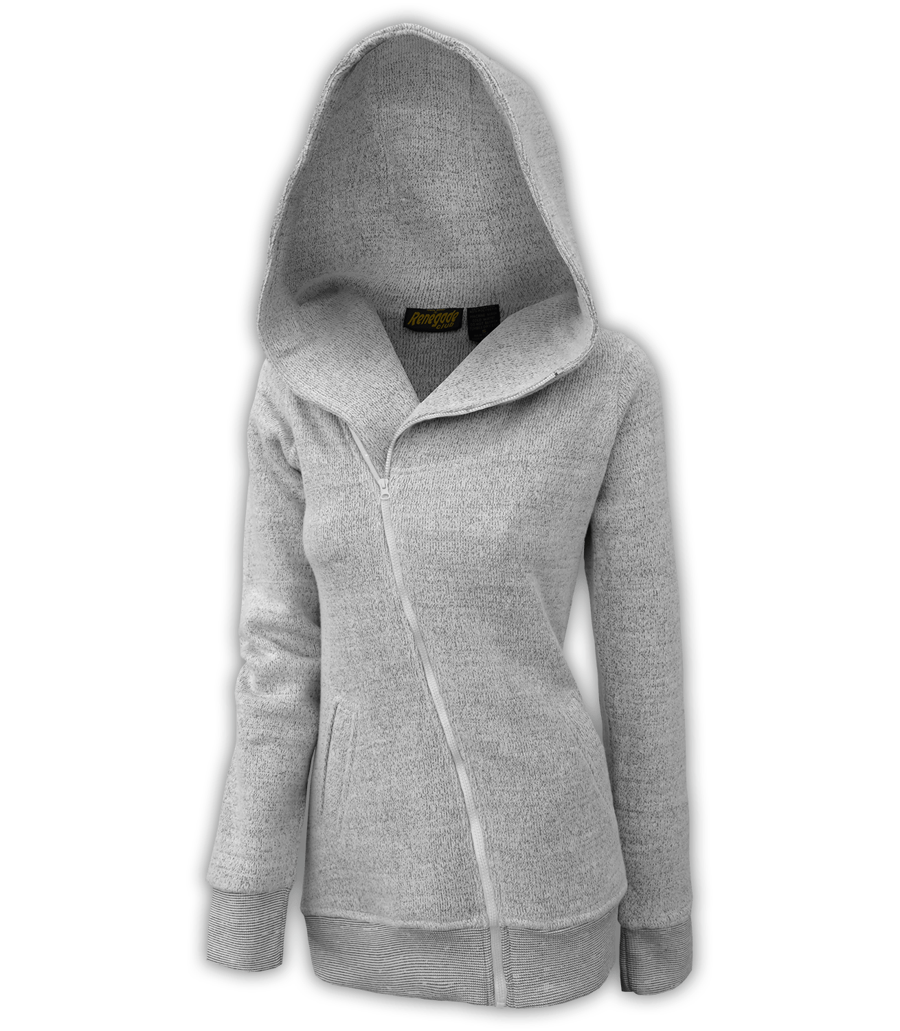 Women's Nantucket Fleece Diagonal Full Zip Oversize-Hooded Long ...