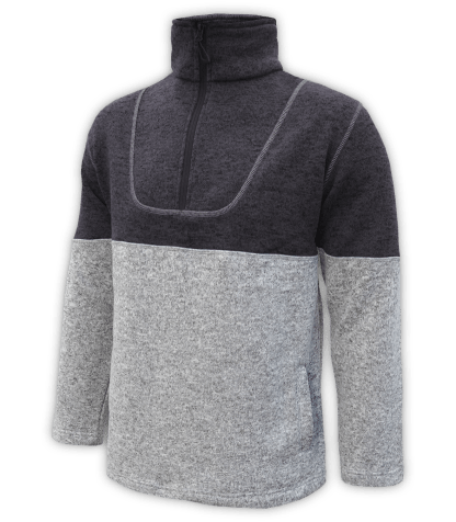 Renegade-mens-half-zip-fleece-pullover-north-shore-salt-and-pepper-gray-charcoal-soft-two-tone