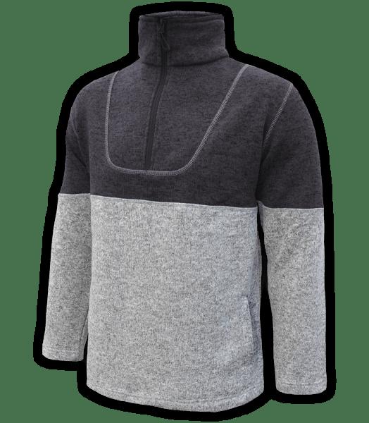 Renegade-mens-half-zip-fleece-pullover-north-shore-salt-and-pepper-gray-charcoal-soft-two-tone