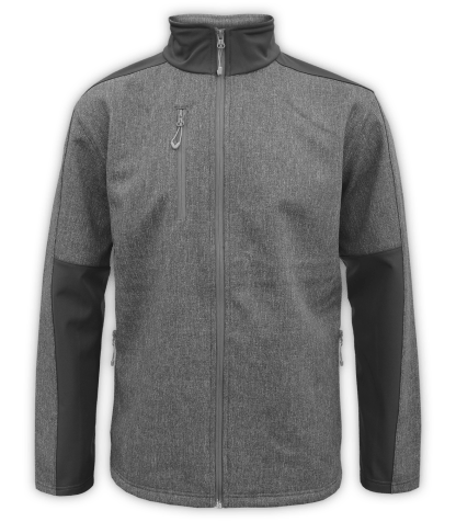 Renegade-club-mens-fleece-jacket-full zip-woven-soft-shell-soft lining- gray-zip-pockets