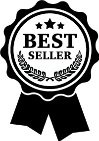 best sellers renegade club, top sellers icon, black and white graphic