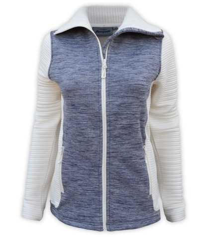 renegade power stretch fleece jacket, 3d fleece sleeves jacket, extended stand-up collar, blue, gray, cream, white