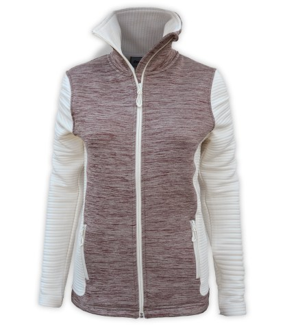 renegade power stretch fleece jacket, 3d fleece sleeves jacket, extended stand-up collar, maroon, red, cream, white